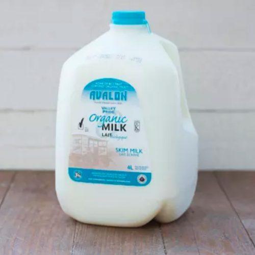 Valley Pride Skim Milk, 4L Jug – 4/cs