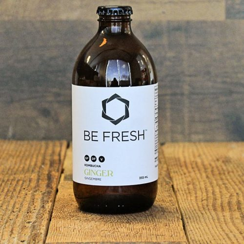 Be Fresh Organic Kombucha, Ginger – 355 ML – 16/cs