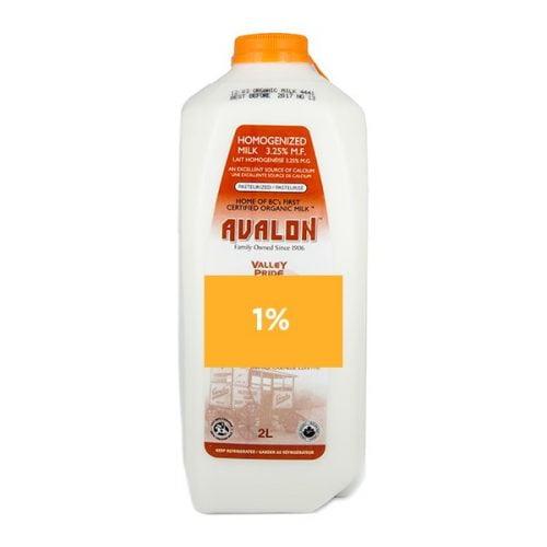 Valley Pride 1% Milk, 2L Jug – 9/cs