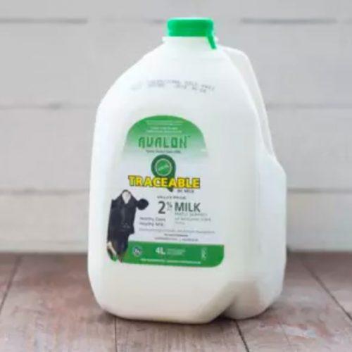 Valley Pride 2% Milk, 4L Jug – 4/cs