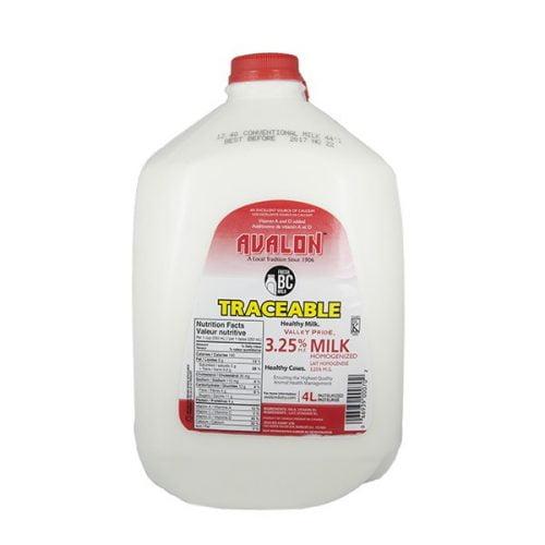 Valley Pride Homo Milk, 4L Jug – 4/cs