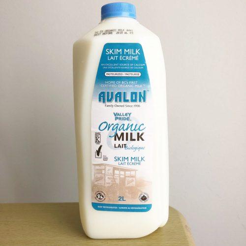 Valley Pride Organic Skim Milk, 2L – 9/cs