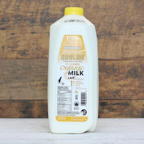 Valley Pride Organic 1% Milk, 2L – 9/cs