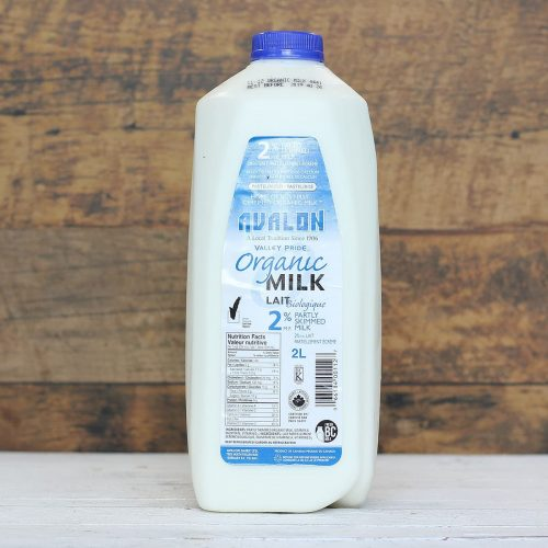 Valley Pride Organic 2% Milk, 2L – 9/cs