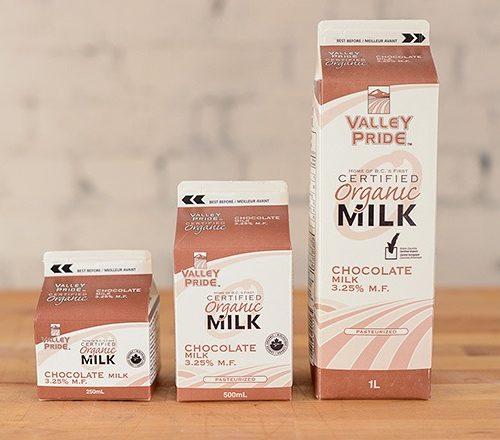 Valley Pride Organic Chocolate Milk, 250mL – 16/cs