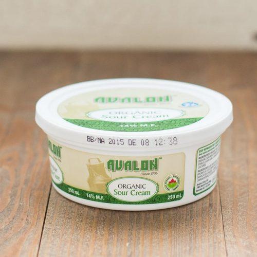 Avalon Organic Sour Cream, 250ml – 12/cs