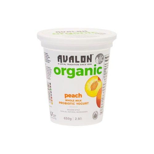 Avalon Organic Peach Yogurt, 650g – 6/cs