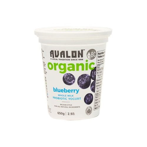 Avalon Organic Blueberry Yogurt, 650g – 6/cs