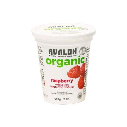 Avalon Organic Raspberry Yogurt, 650g – 6/cs
