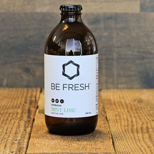Be Fresh Organic Kombucha, Mint Lime – 355 ML – 16/cs