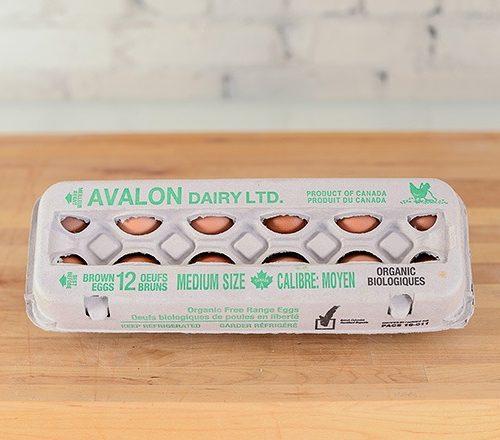 Avalon Organic Eggs, Medium 1dz – 15dz/cs